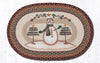 OP-081 Moon & Star Snowman Oval Patch Rug