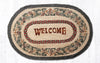 OP-081 Pinecone Welcome Oval Patch Rug