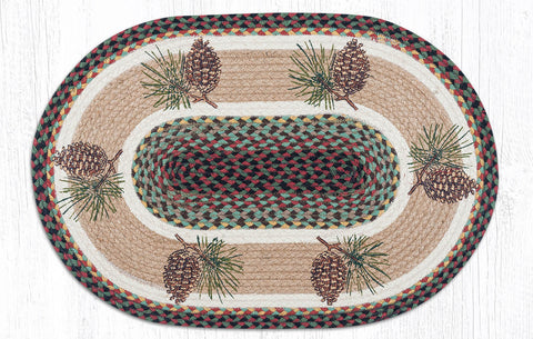 OP-081 Pinecone Oval Patch Rug