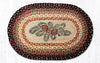 OP-083 Pinecone Red Berry Oval Patch Rug