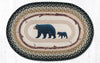 OP-116 Mama and Baby Bear Oval Patch Rug