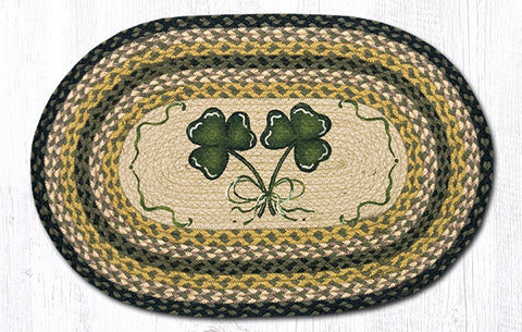 OP-116 Shamrock Oval Patch Rug