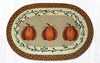 OP-222 Harvest Pumpkin Oval Patch Rug