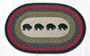OP-238 Black Bears Oval Patch Rug