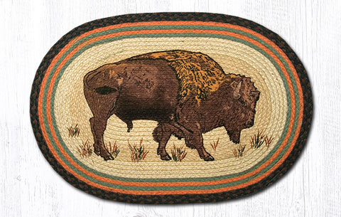OP-240 Buffalo Oval Patch Rug