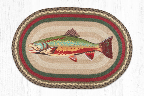 OP-244 Trout Oval Patch Rug