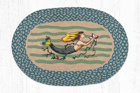 OP-245 Mermaid Oval Patch Rug