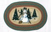 OP-246 Winter Wonderland Oval Patch Rug
