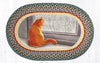 OP-250 Window Cat Oval Patch Rug