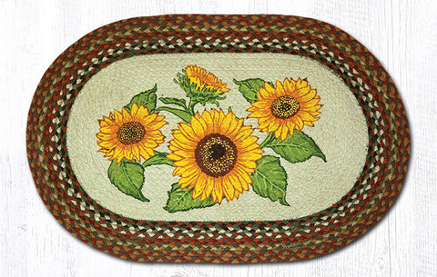 OP-300 Sunflowers Oval Patch Rug