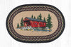 OP-304 Covered Bridge Oval Patch Rug