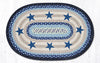 OP-312 Blue Stars Oval Patch Rug