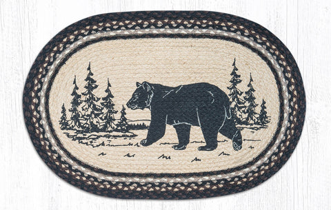 OP-313 Bear Silhouette Oval Patch Rug