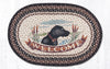 OP-313 Welcome Dog Oval Patch Rug