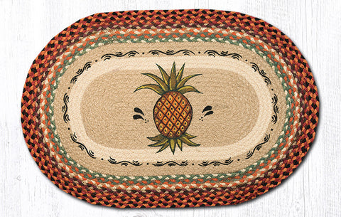 OP-375 Pineapple Oval Patch Rug