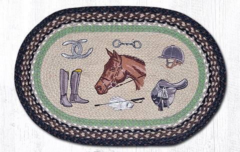 OP-383 Equestrian Oval Patch Rug