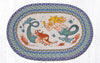 OP-386 Mermaids Oval Patch Rug