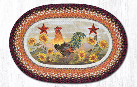 OP-391 Morning Rooster Oval Patch Rug