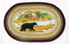 OP-395 Cabin Bear Oval Patch Rug