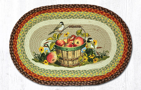 OP-426 Apple Chickadee Oval Patch Rugs