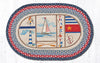 OP-458 Nautical Breeze Oval Patch Rug