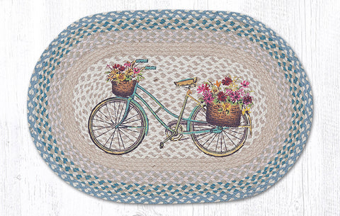 OP-522 My Bicycle Oval Patch Rug