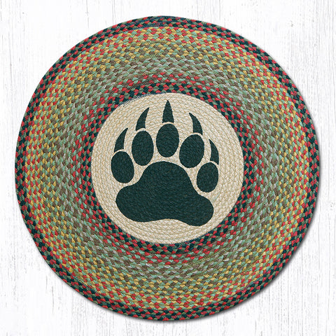 RP-081 Bear Paw Round Patch Rug