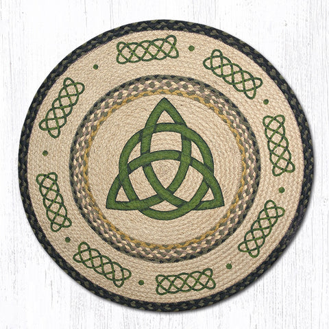 RP-116 Irish Knot Round Patch Rug
