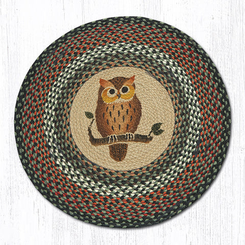 RP-220 Owl Round Patch Rug