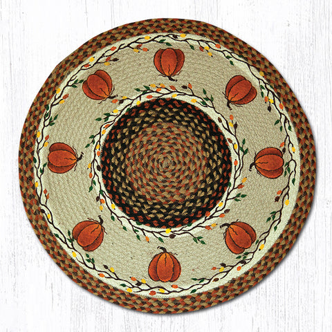RP-222 Harvest Pumpkin Round Patch Rug