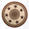 RP-357 Burgundy Star Round Patch Rug