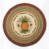 RP-375 Pineapple Round Patch Rug