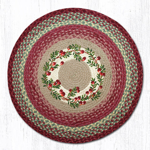 RP-390 Cranberries Round Patch Rug