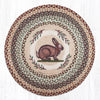 RP-413 Vintage Rabbit Round Patch Rug