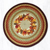 RP-431 Autumn Wreath Round Patch Rug
