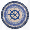 RP-434 Nautical Wheel Round Patch Rug