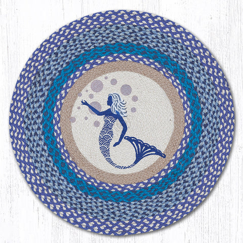 RP-527 Blue Mermaid Round Patch Rug
