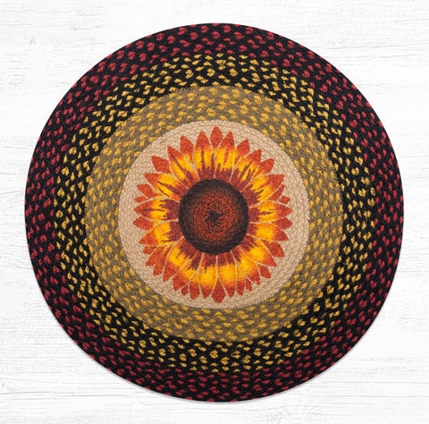 RP-919 Sunflower Round Patch Rug