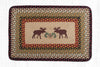 PP-019 Moose/Pinecone Print Patch Rug