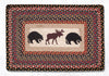 PP-043 Bear/Moose Print Patch Rug