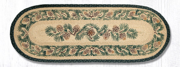 025A Pinecone Oval Patch Runner