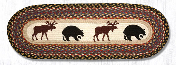 OP-043 Bear/Moose Oval Patch Runner