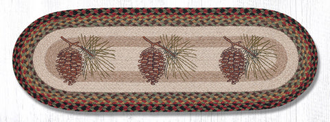 OP-081 Pinecone Oval Patch Runner