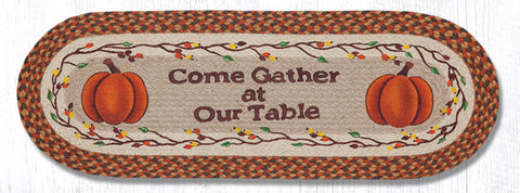 OP-222 Come Gather At Our Table Oval Patch Runner