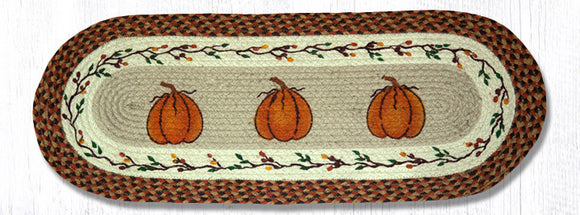 OP-222 Harvest Pumpkin Oval Patch Runner