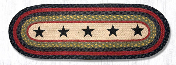OP-238 Black Stars Oval Patch Runner