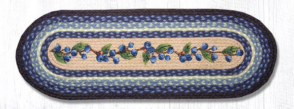 OP-312 Blueberry Vine Oval Patch Runner