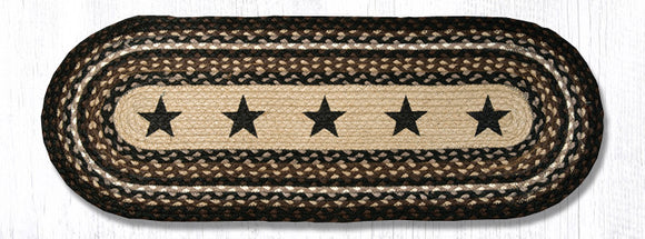 OP-313 Black Stars Oval Patch Runner