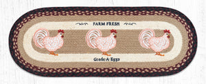 OP-344 Farmhouse Chicken Table Runner