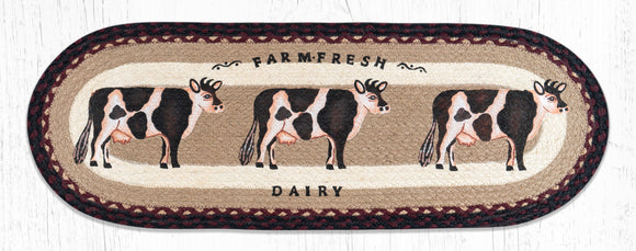 OP-344 Farmhouse Cow Table Runner